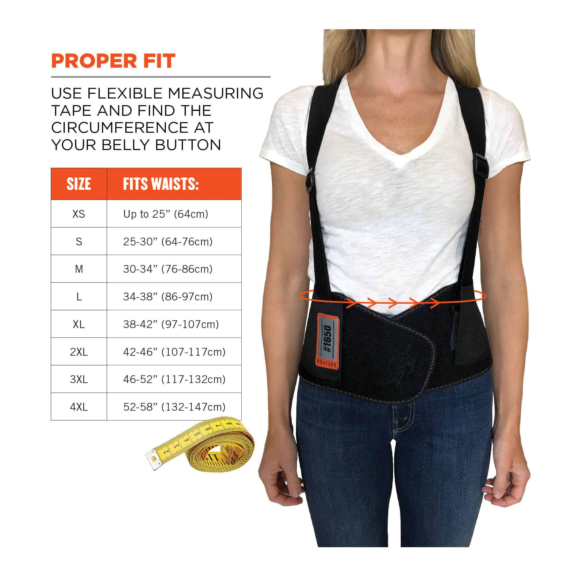 3M™ StrongArm® 051131-27524 ErgoSkeleton™ V22, L, 42 to 51 in Fits Waist, Rugged Plastic, Black/Red