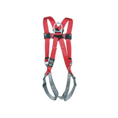 3M Protecta Fall Protection 1161543 Harness, XL, 420 lb Load, Polyester Strap, Tongue Leg Strap Buckle, Pass-Thru Chest Strap Buckle, Steel Hardware, Black