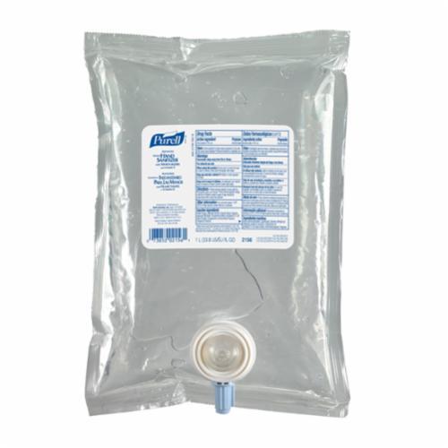 PURELL® 2156-04 NXT® Hand Sanitizer, 1000 mL Nominal, Dispenser Refill Package, Gel Form, Fruity/Odorless Odor/Scent, Clear/Light Blue