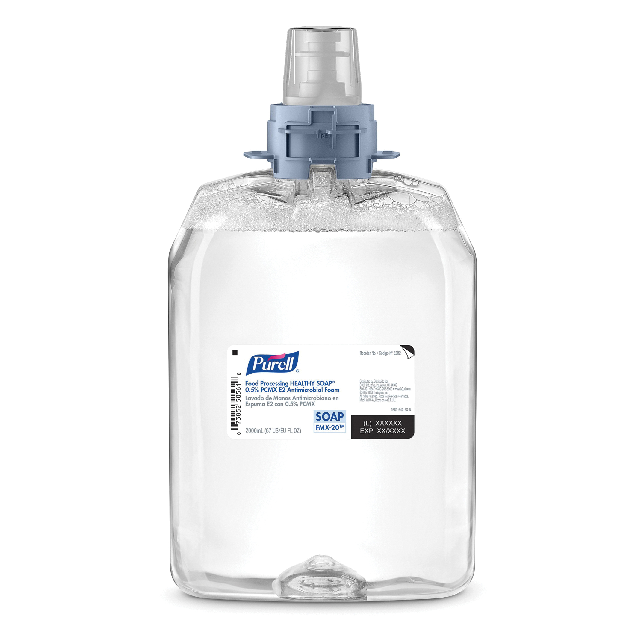 PURELL® 5279-02 Professional HEALTHY SOAP® Antimicrobial Soap, 2000 mL Nominal, Dispenser Refill Package, Foam Form, Plum Odor/Scent, Clear/Yellow