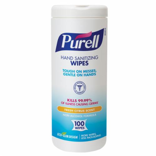 PURELL® 9030-12 Hand Sanitizing Wipes, 8 in, 80 Count Capacity, White