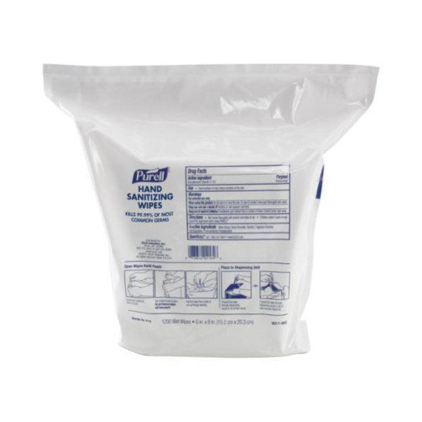 PURELL® 9115-02 Foam Hand Sanitizing Wipes, 1500 Count Capacity, Textured, White