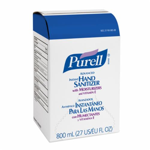 PURELL® 9652-12 Advanced Hand Sanitizer, 8 fl-oz Nominal, Pump Bottle Package, Gel Form, Fruity Odor/Scent, Clear