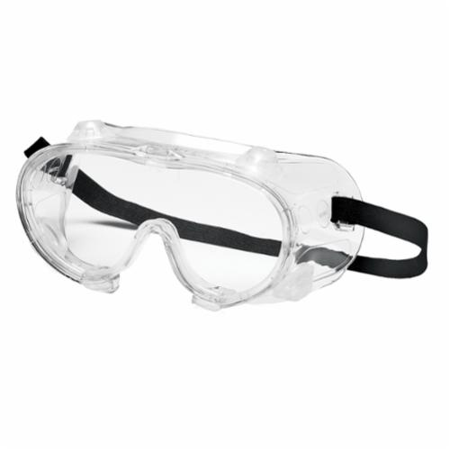 Pyramex® G201T Perforated Goggles, Anti-Fog/Anti-Scratch Clear Polycarbonate Lens, 99% UV Protection, Elastic Strap, ANSI Z87.1, CE EN166
