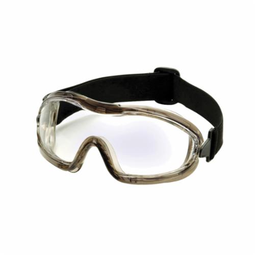 Pyramex® G604T2 Capstone® 600 Chemical Splash Goggles With Lens and Frame, H2X Anti-Fog/Scratch Resistant Clear Polycarbonate Lens, 99% % UV Protection, Neoprene Strap, Specifications Met: ANSI Z87.1, CE EN166 CSA Z94.3, AUS NSZ 1337, MIL-PRF 32432