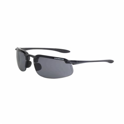 CrossFire® 19220 OTG Safety Eyewear With Black Elastic Strap, Full Framed Frame, Matte Black, Polycarbonate Frame, ANSI Z87.1