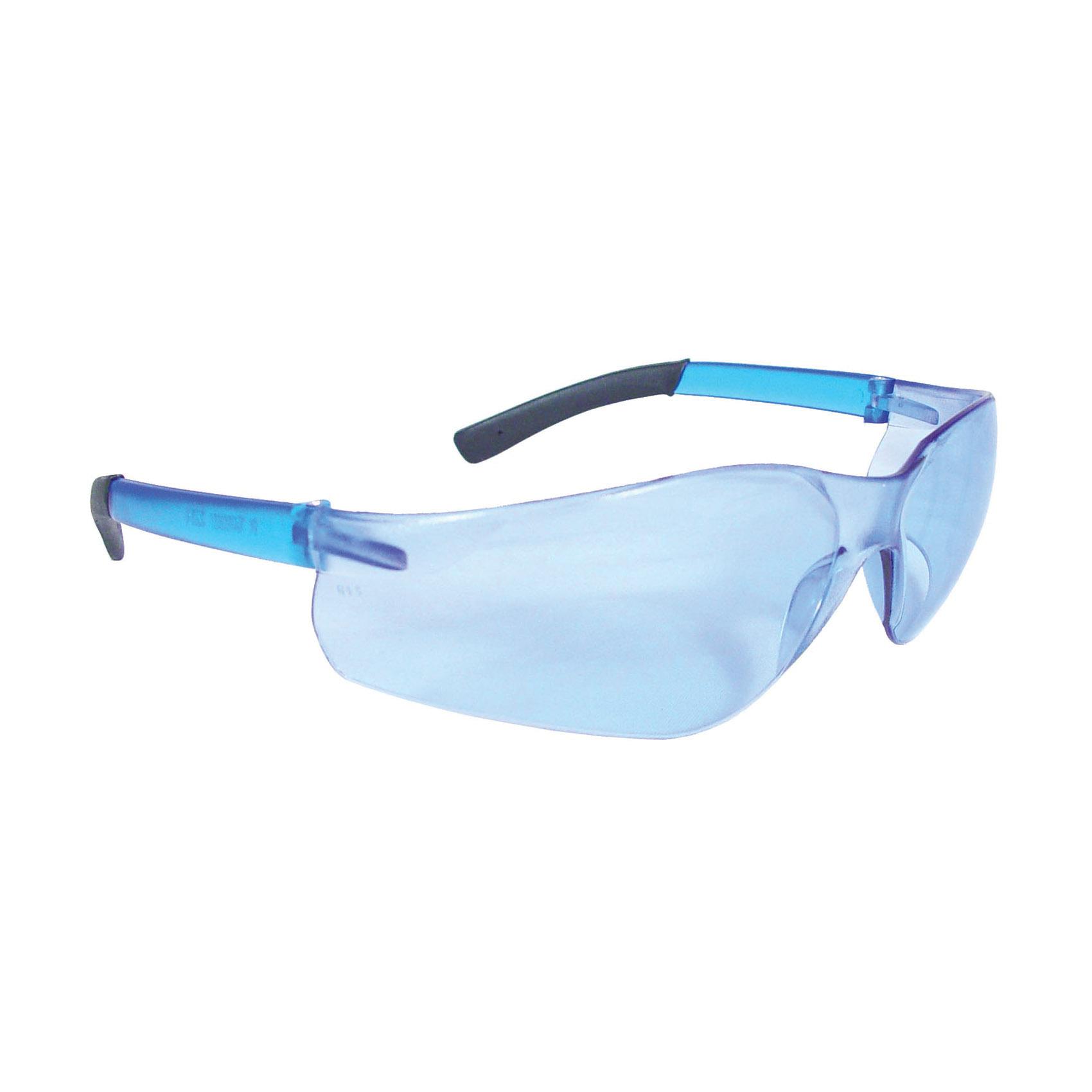 Radians® AT1-70 AT1 Rad-Atac™ Lightweight Safety Eyewear, Hard Coat/Impact Resistant, Blue Mirror Lens, Half Framed Frame, Blue Mirror, Rubber Frame, Polycarbonate Lens, ANSI Z87.1+