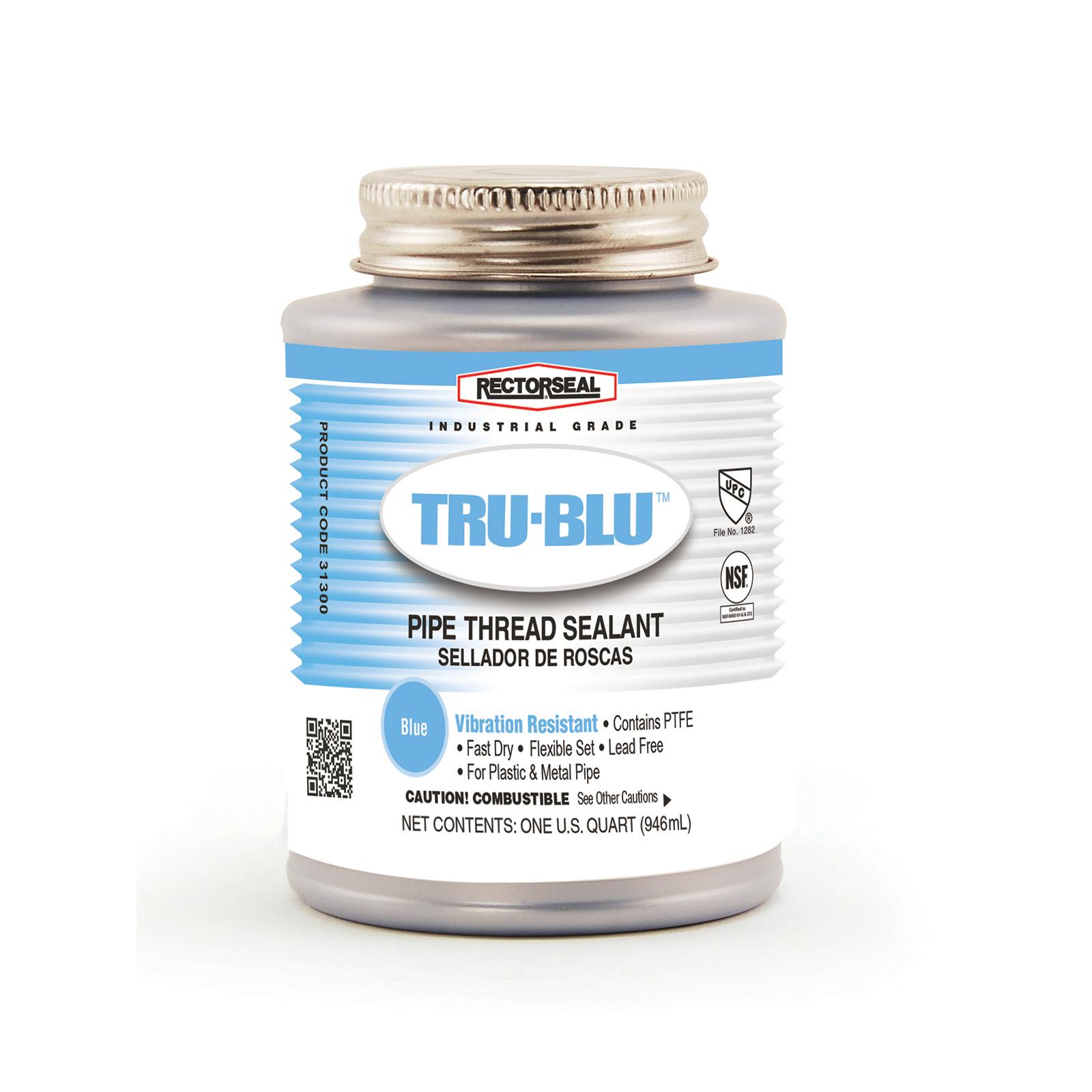 RectorSeal® Tru-Blu™ 31300 Vibration Resistant Pipe Thread Sealant, 1 qt Can, Blue
