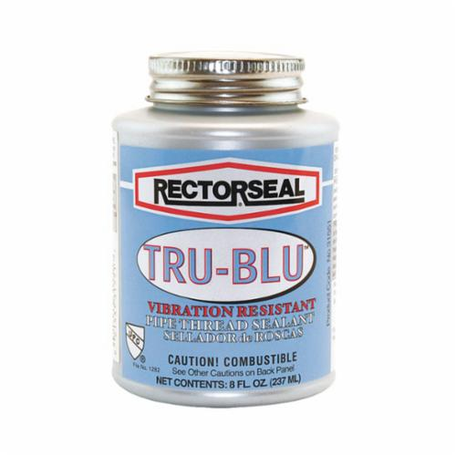 RectorSeal® 31551 Tru-Blu™ Vibration Resistant Pipe Thread Sealant, 8 oz Can, Blue, 1.38