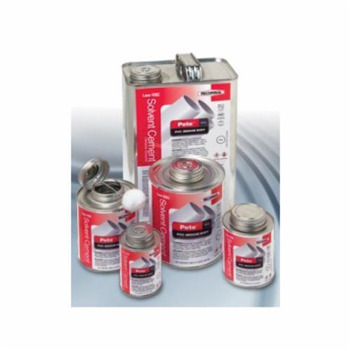 RectorSeal® Pete™ 602L 55928 Low VOC Medium Body Solvent Cement, 1 qt Container, Clear