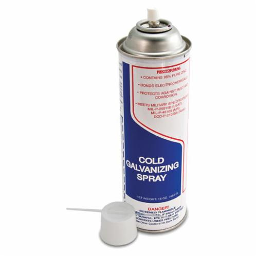 RectorSeal® 86625 Cold Galvanizing Spray, 16 oz, Liquid, Gray, 24 hr Curing