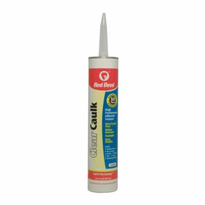 Red Devil® 0820 Silicone Sealant, 2.8 oz Glaminate/Squeeze Tube, Clear, Proprietary Siloxane Blend Base
