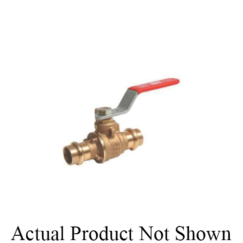 RWV® 5020 3 2-Piece Standard Ball Valve With Handle, 3 in Nominal, Dual Female EzPress End Style, Bronze Body, Full Port, PTFE Softgoods