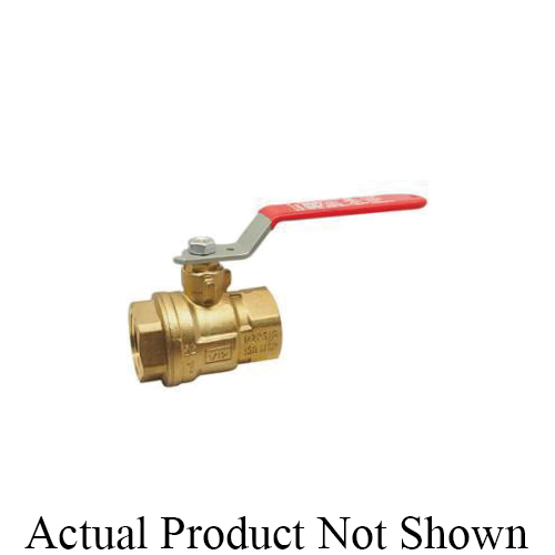 RWV® 5044F 3/4 Standard Ball Valve With Handle, 3/4 in Nominal, FNPT End Style, Forged Brass Body, Full Port, PTFE Softgoods
