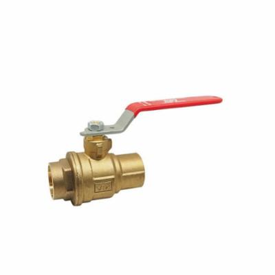 RWV® 5049F 1-1/4 2-Piece Standard Ball Valve With Handle, 1-1/4 in Nominal, Solder End Style, Forged Brass Body, Full Port, Graphite Softgoods