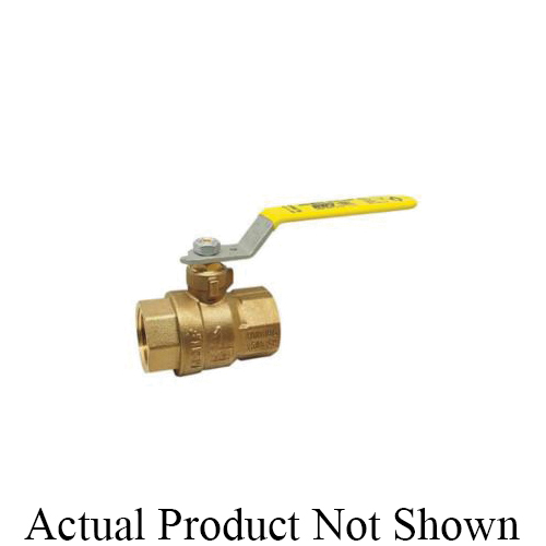RWV® 5544AB 3/4 2-Piece Ball Valve With Handle, 3/4 in Nominal, Threaded End Style, Forged Brass Body, Full Port, PTFE Softgoods