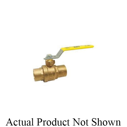 RWV® 5549AB 3/4 2-Piece Ball Valve With Handle, 3/4 in Nominal, Solder End Style, Forged Brass Body, Full Port, PTFE Softgoods