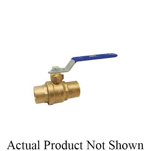 RWV® 5549DAB 1-1/2 2-Piece Ball Valve With Handle, 1-1/2 in Nominal, Solder End Style, Forged Brass Body, Full Port, PTFE Softgoods