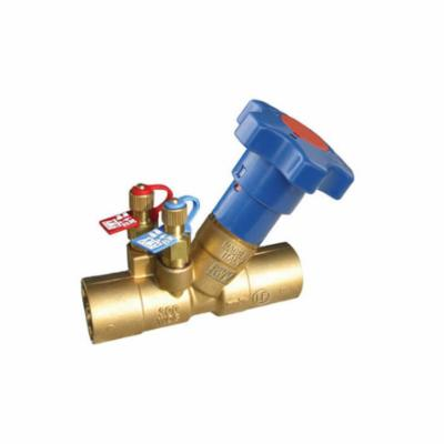 RWV® 9519AB 3/4 Hydronic Balancing Valve, 3/4 in Nominal, Solder End Style, 5.15 gpm Flow Rate, DZR Brass Body, Import