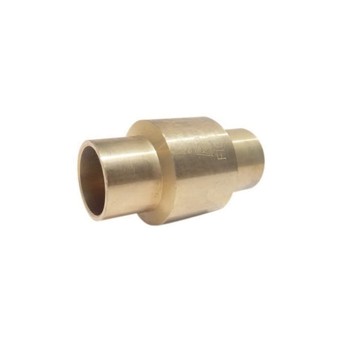 RWV® 233AB 3/4 In-Line Check Valve, 3/4 in Nominal, Solder End Style, 200 lb WOG, Low Lead Compliance: Yes, Forged Brass Body