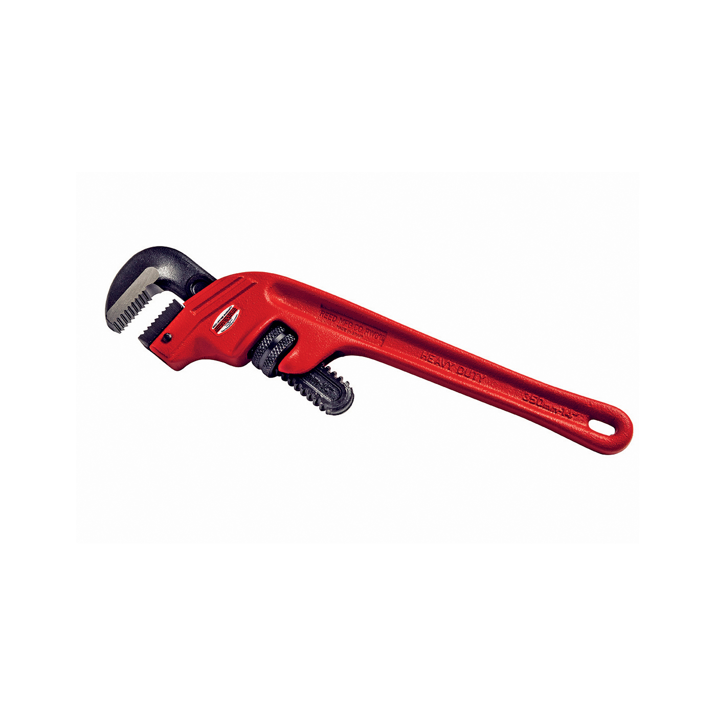 Reed 02230 Heavy Duty Offset Pipe Wrench, 1/4 to 2 in Pipe, 14 in OAL, Ductile Iron Handle