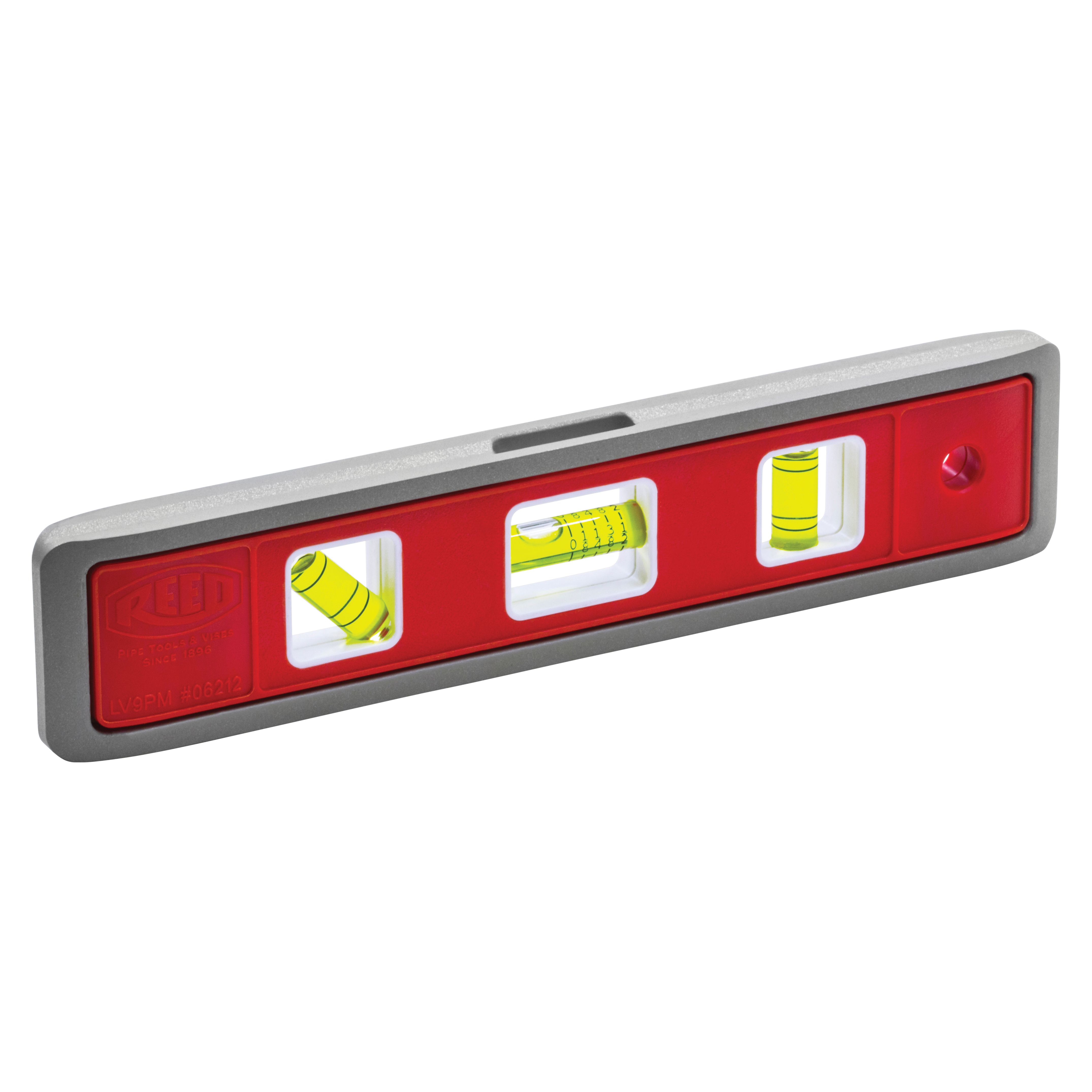 Reed 06212 Torpedo Level, 9 in L, Plastic
