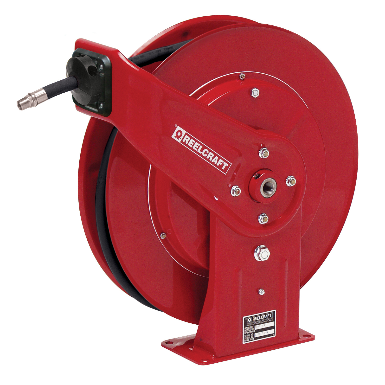 Reelcraft® 7650 OLP 7000 Heavy Duty Low Pressure Hose Reel With Hose, 3/8 in ID x 3/5 in OD x 50 ft L Hose, 300 psi Pressure, 19-3/4 in Dia x 3-7/8 in W Reel, Domestic