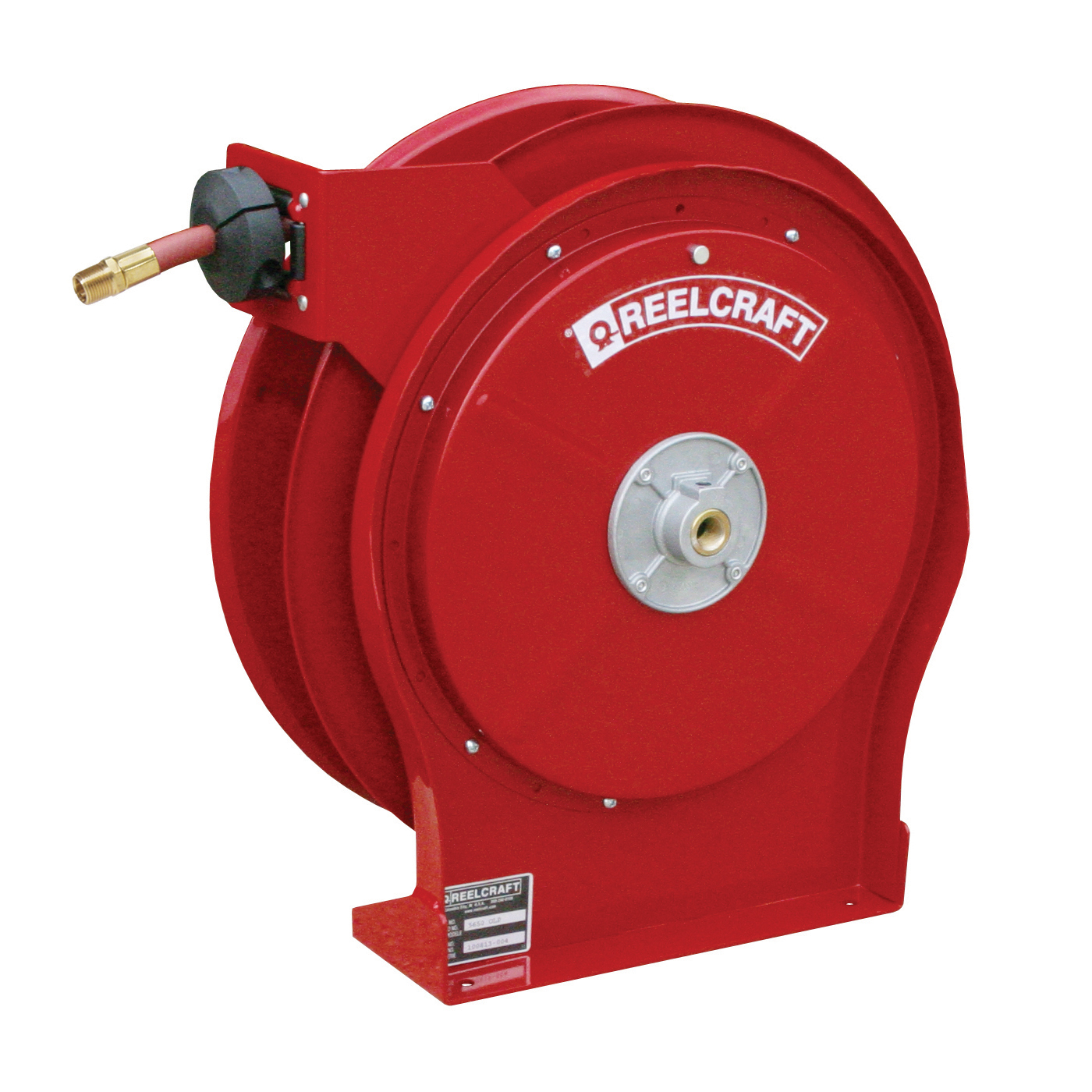 Reelcraft® 7850 OLP 7000 Heavy Duty Low Pressure Hose Reel With Hose, 1/2 in ID x 3/4 in OD x 50 ft L Hose, 300 psi Pressure, 19-3/4 in Dia x 3-7/8 in W Reel, Domestic