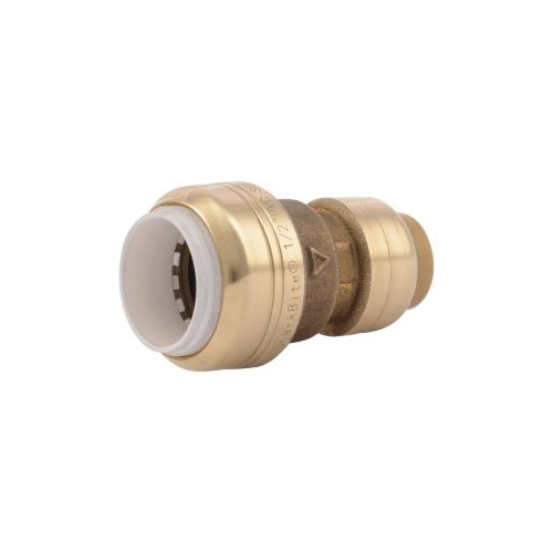 Sharkbite® UIP4008 Transition Coupling, 1/2 in Nominal, CTS x PVC End Style, Brass, Import
