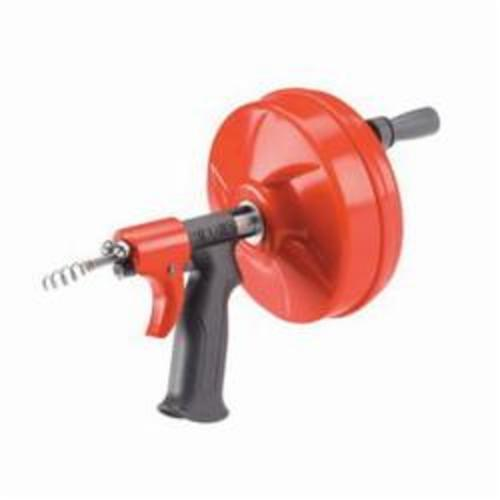 RIDGID® 41408 Hand Spinner With Straight Auger, 1/2 to 1-1/2 in Drain Line, Kink Resistant Cable, 1/4 in Dia x 25 ft L Cable