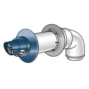Rinnai® 223182 Universal Horizontal Termination Kit, For Use With: Luxury/Value Series Tankless Water Heater, 21 in, Aluminum/Plastic, Import