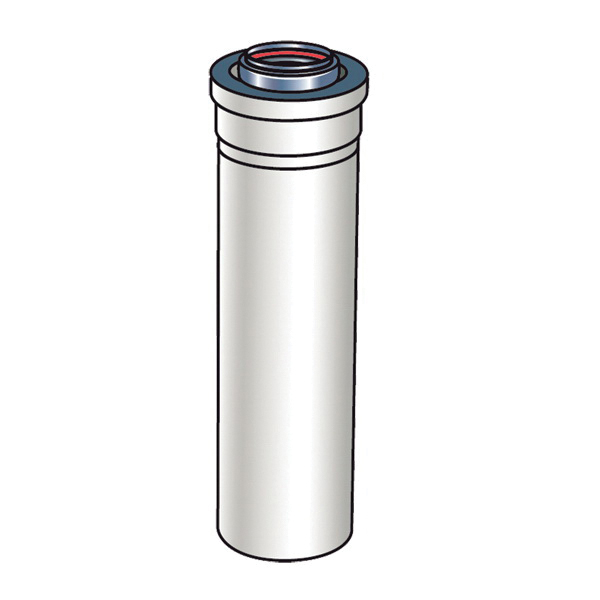 Rinnai® 224053 Vent Pipe Extension, For Use With: Luxury/Value Series Non-Condensing Tankless Water Heater, Aluminum/Plastic, Import