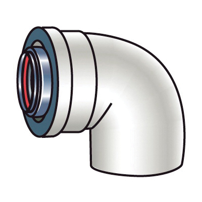 Rinnai® 224063 90 deg Elbow, For Use With: Luxury/Valve Series Non-Condensing Tankless Water Heater, Aluminum/Plastic, Import