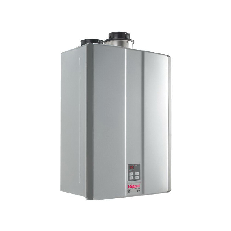 Rinnai® C199iN SE+ Super High Efficiency Tankless Water Heater, Natural Gas Fuel, 199000 Btu/hr, Indoor, Condensing, 9.8 gpm, Direct Vent, 0.96, Commercial