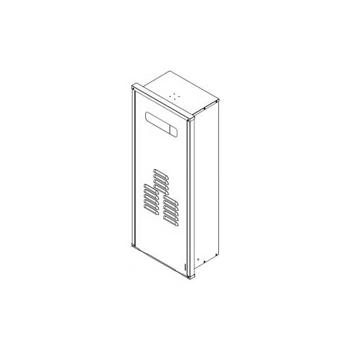 Rinnai® RGB-25U-C Recess Box, For Use With: Model RL94E/RL75E/V94E/V75E and V65E Water Heater, Galvanized/Powder Coated Steel, White, Domestic