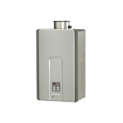 Rinnai® RL94iN HE+ Tankless Water Heater, Natural Gas Fuel, 199000 Btu/hr Heating, Indoor/Outdoor: Indoor, Non-Condensing, 9.8 gpm Flow Rate, Direct Vent, 0.82, Commercial/Residential
