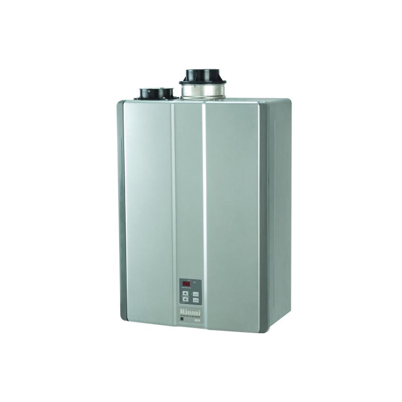 Rinnai® RUC98iP SE+ Super High Efficiency Tankless Water Heater, Liquid Propane Fuel, 199000 Btu/hr Heating, Indoor/Outdoor: Indoor, Condensing, 9.8 gpm Flow Rate, Direct Vent, 0.95, Commercial/Residential