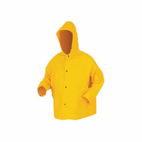 River City 200JHS Classic 200JH Series Rain Jacket, Small, Yellow, PVC/Polyester, 2 Pockets