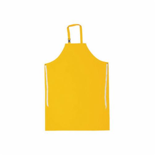 PIP® 200-20001 Heavy Duty Bib Apron, PVC/Vinyl, 44 in L x 33 in W, Resists: Chemical, Fats, Oil and Grease