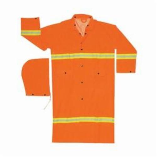 River City 2013RM Luminator™ 3-Piece Rainsuit, Unisex, M, Hi-Viz Orange, Polyester/Corduroy/PVC, 46 in Waist, 27-1/2 in L Inseam, Detachable Hood