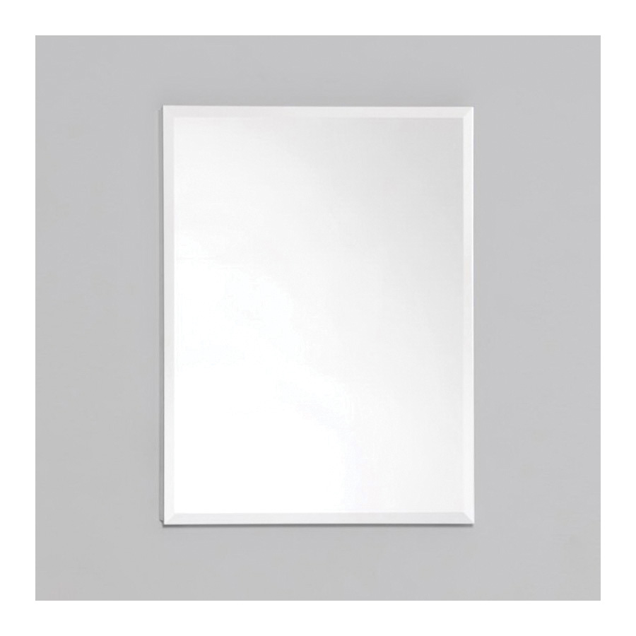 Robern® RC1620D4FB1 Single Door Medicine Cabinet With Interior Bevel Edge Front Mirror, R3 Series, 16 in OAW x 20 in OAH, Aluminum, Satin Anodized