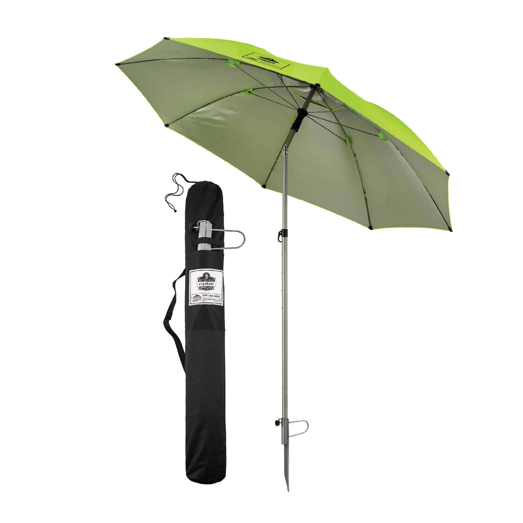 SHAX® 12900-PALLET 6000 Commercial Heavy Duty Pop-Up Tent, 10 ft L x 10 ft W x 14 ft H, 300D Polyester, Hi-Viz Lime