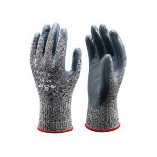 SHOWA® 2005PFL-08 Disposable Gloves, L/SZ 8 to 9, Vinyl, Clear, 9-1/2 in L, Non-Powdered, Smooth, 5 mil THK, Application Type: Industrial Grade, Ambidextrous Hand
