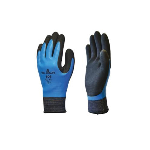 SHOWA® 3005PFXS 3500PF Disposable Gloves, XS/SZ 5 to 6, Nitrile, Blue, 9-1/2 in L, Non-Powdered, Textured, 4 mil THK, Application Type: Medical Grade, Ambidextrous Hand
