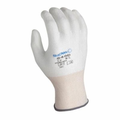 SHOWA® 5122-10 Fully Coated Reusable Chemical-Resistant Gloves, L/SZ 10, Neoprene, Black, Cotton Lining, Resists: Acids, Caustics, Greases and Oil, Knit Wrist Cuff