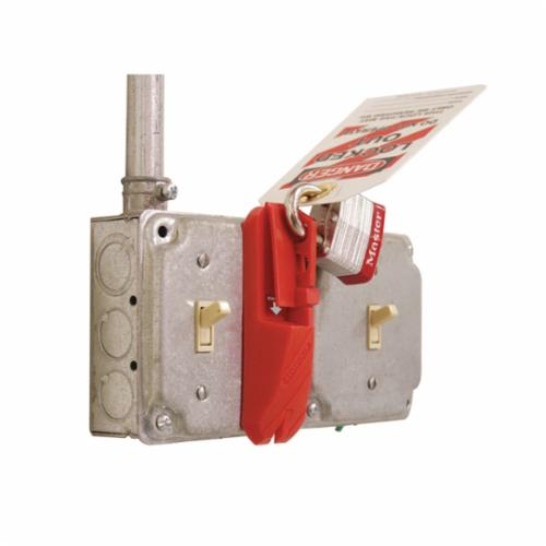 STOPOUT® KCC624 Look n Stop Group Lockout Box, 42 Padlocks, Hinged Door, Red, 4-1/2 in H x 14-1/2 in W x 4-1/2 in D, Wall Mount, 16 Key Hooks