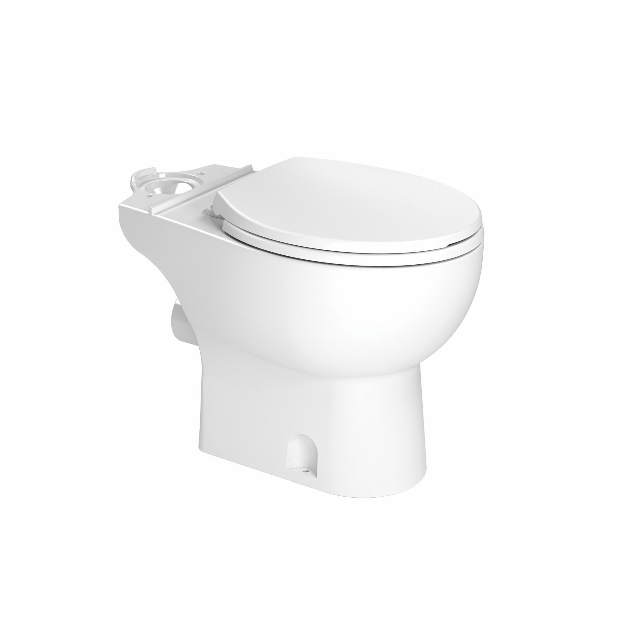 Saniflo® Saniflush® 003 Toilet Bowl, White, Round Shape, 3 in Trapway