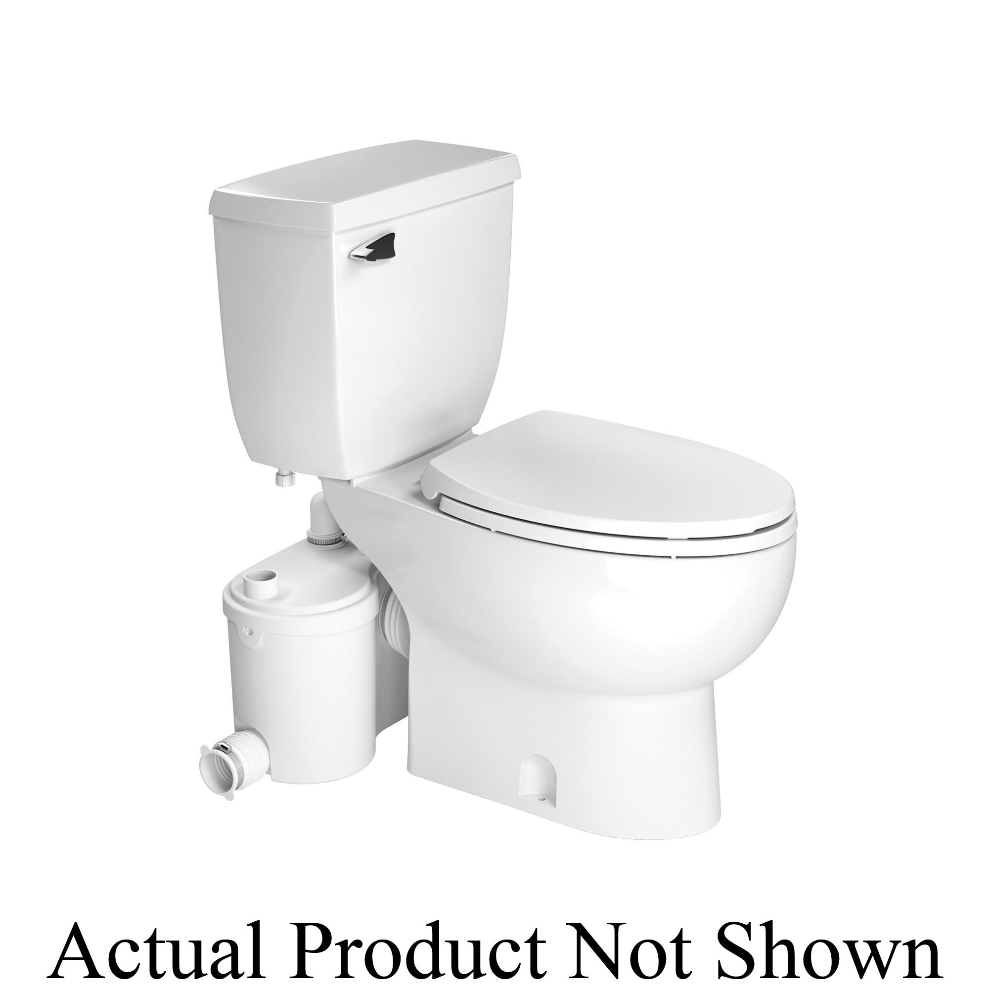Saniflo® Saniflush® 007 Toilet Bowl, White, Elongated, 3 in Trapway