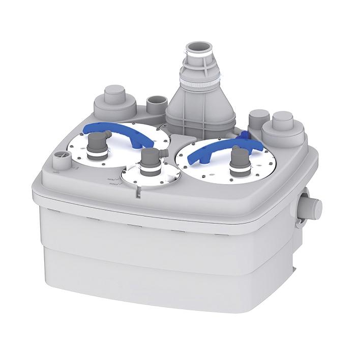 Saniflo® SANICUBIC 2® 029 Duplex Grinder Pump, 36 ft Max Head, 220/240 VAC, 1 ph