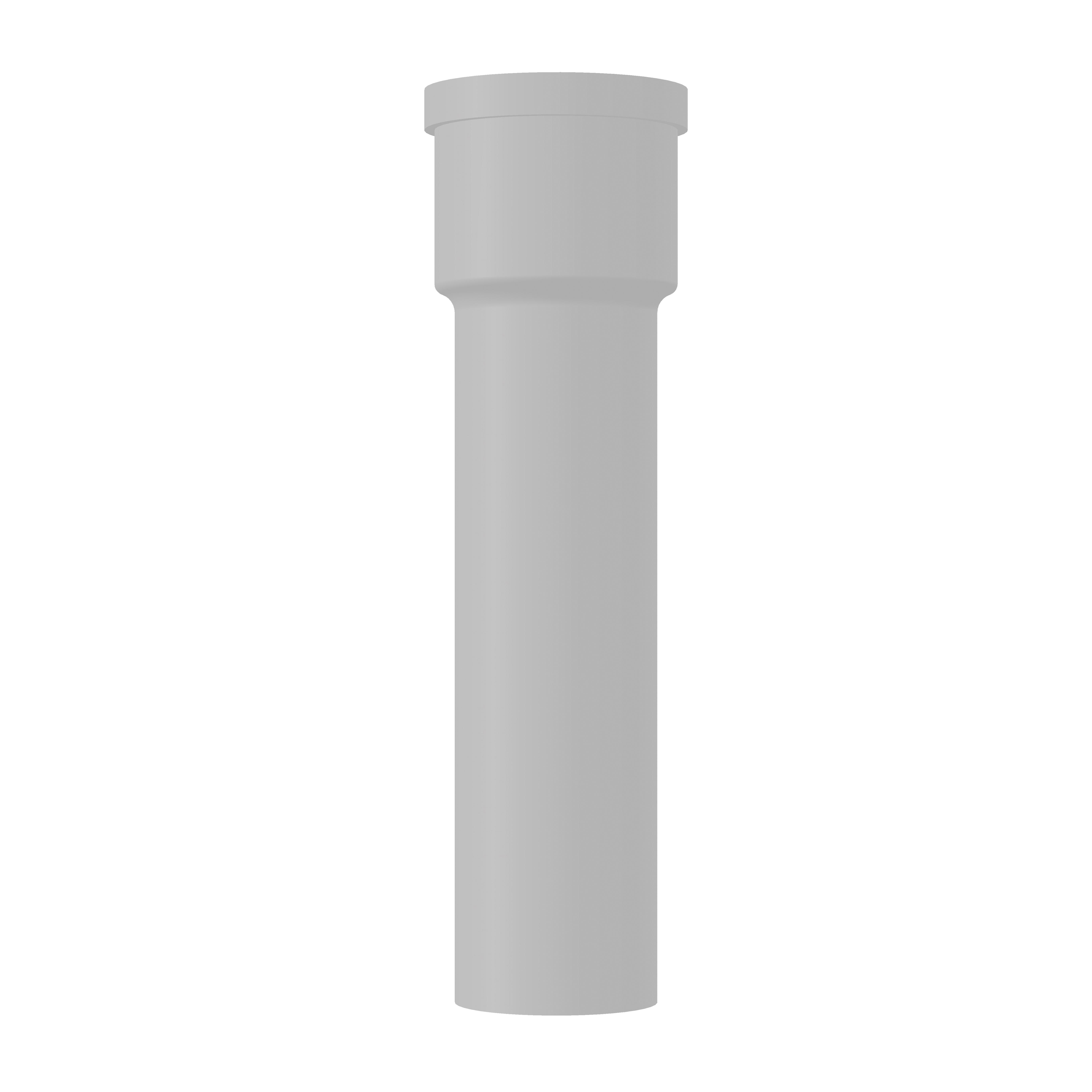 Saniflo® 030 Extension Pipe, 4 x 5 in OD x 18 in L, PVC, White, Import